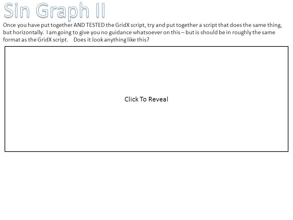 Sin Graph II Click To Reveal