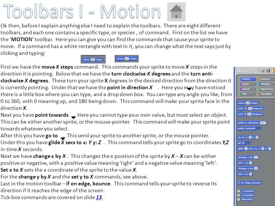 Toolbars I - Motion