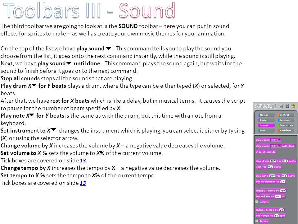 Toolbars III - Sound