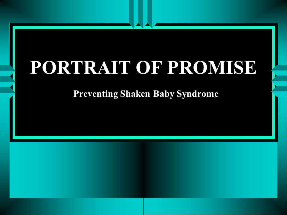 PORTRAIT OF PROMISE Preventing Shaken Baby Syndrome