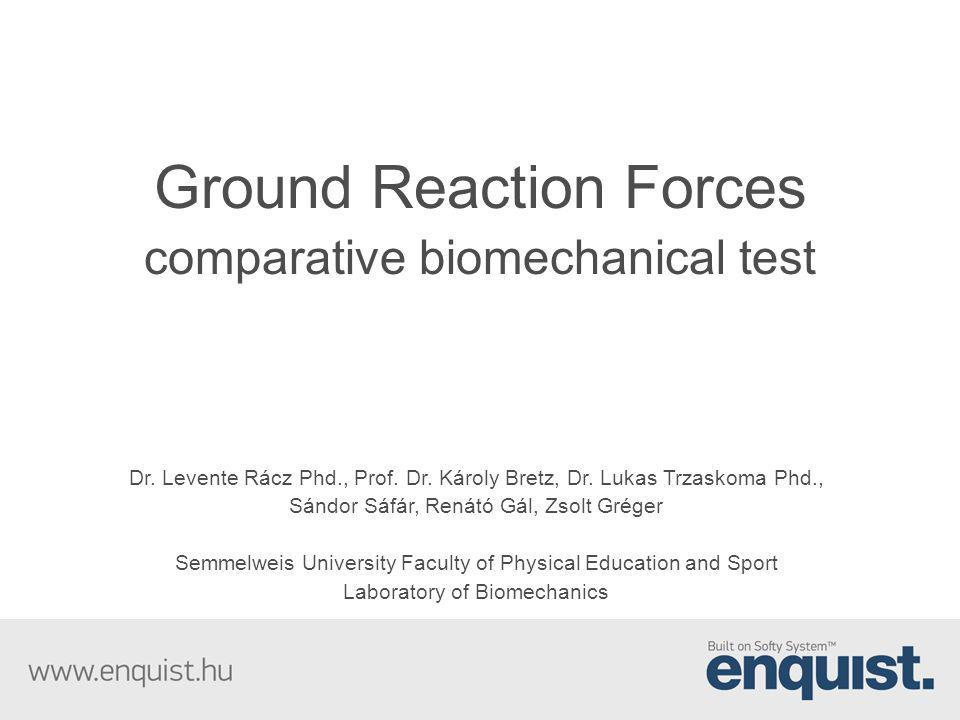 Ground Reaction Forces comparative biomechanical test
