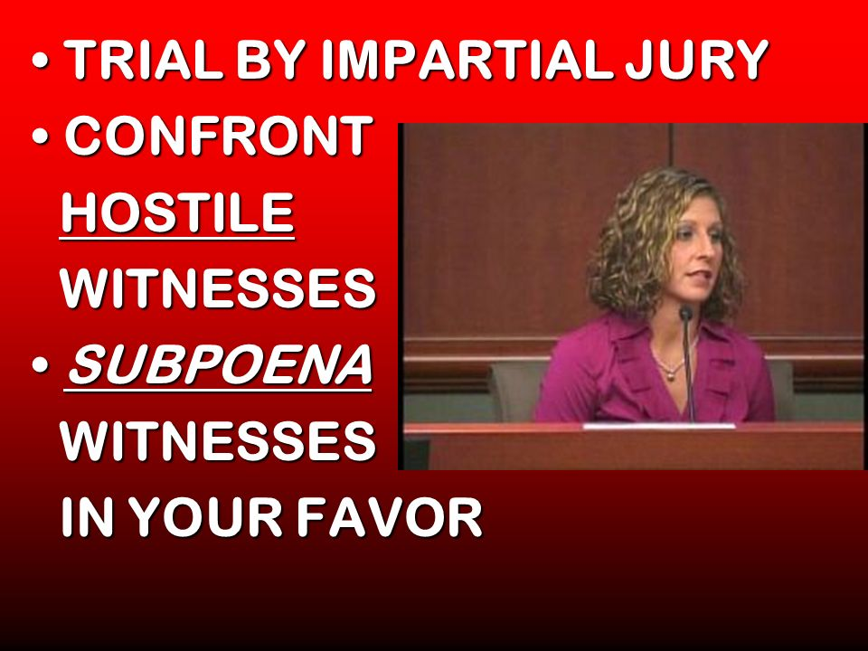 TRIAL BY IMPARTIAL JURY