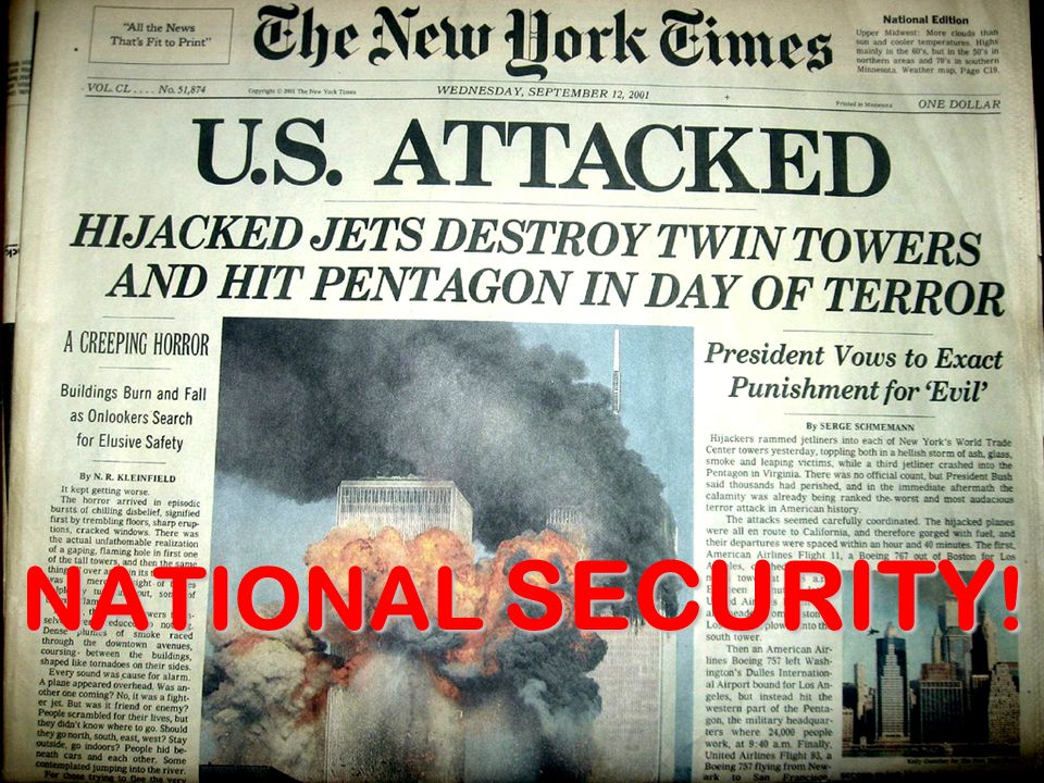 NATIONAL SECURITY!