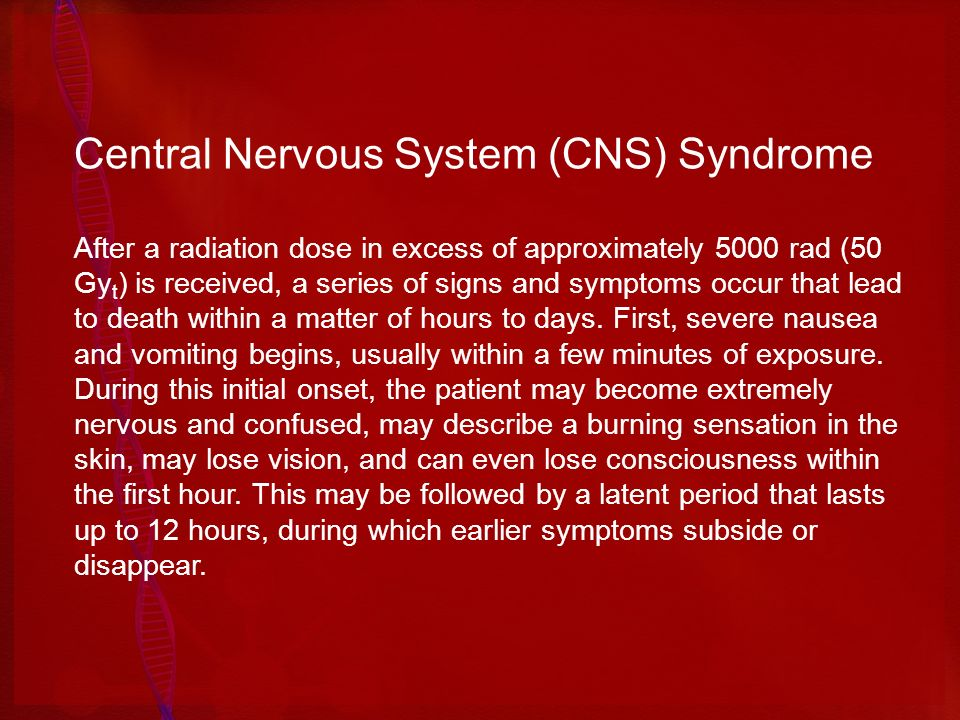 Central Nervous System (CNS) Syndrome