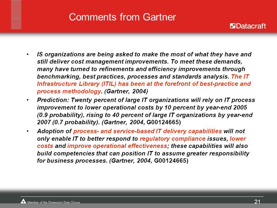 Comments from Gartner