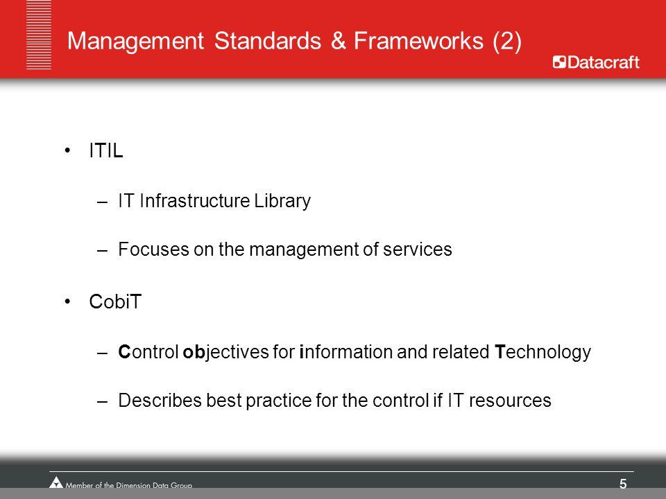 Management Standards & Frameworks (2)