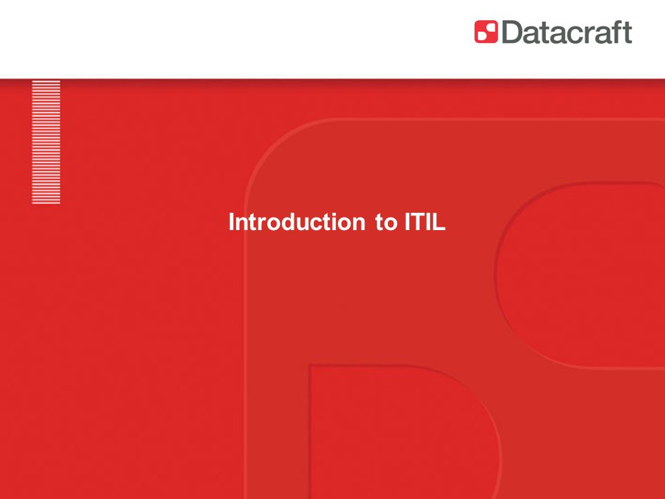 Introduction to ITIL