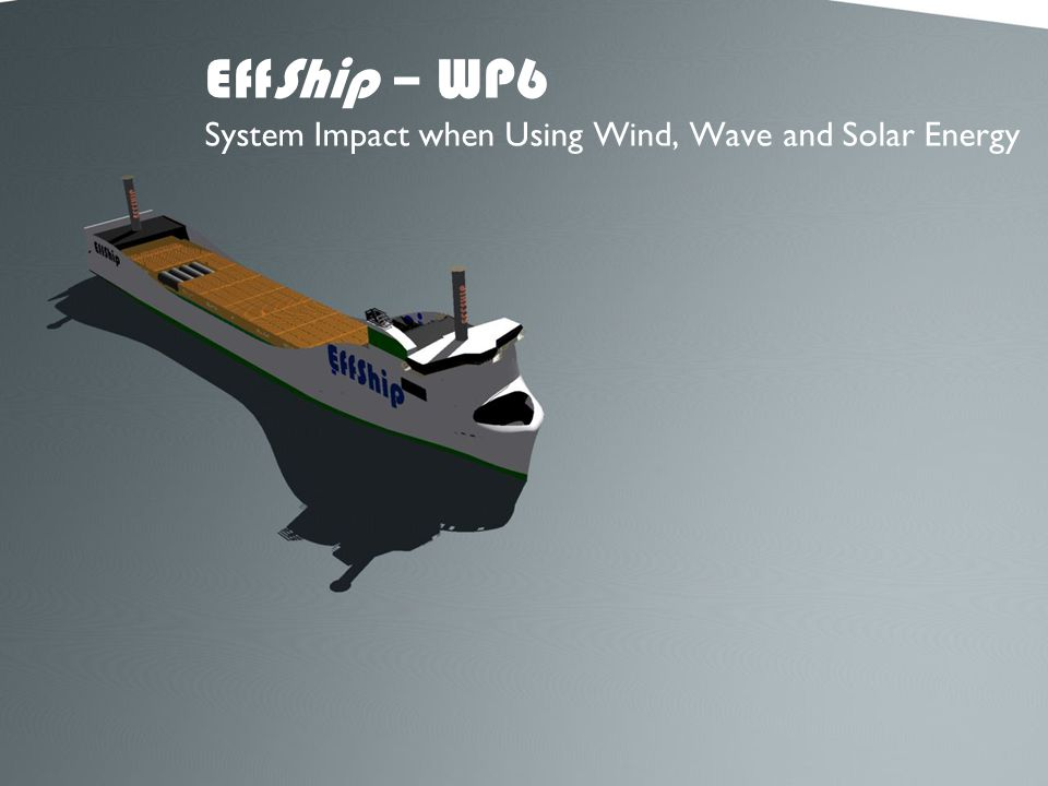 EffShip – WP6 System Impact when Using Wind, Wave and Solar Energy