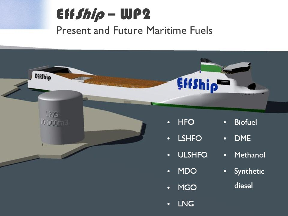 EffShip – WP2 Present and Future Maritime Fuels