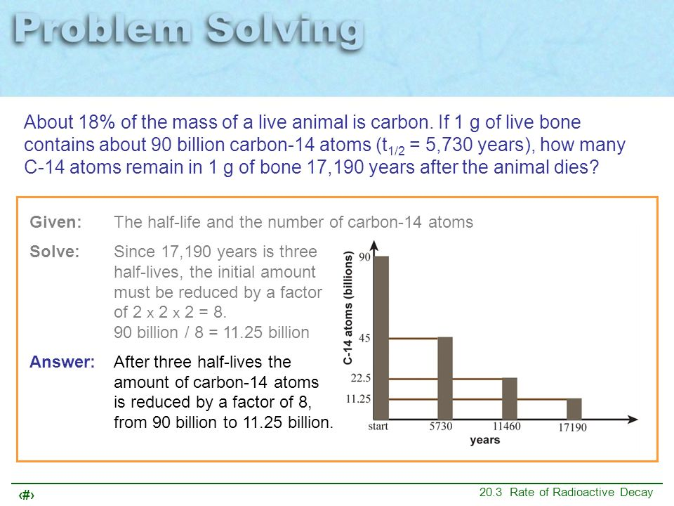 About 18% of the mass of a live animal is carbon