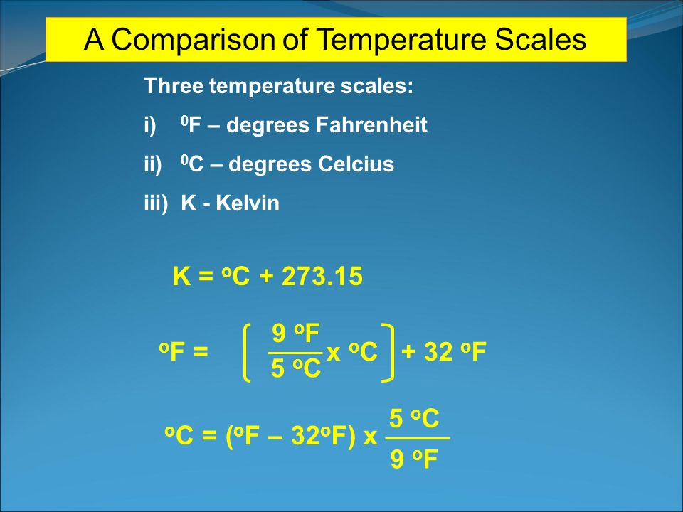 A Comparison of Temperature Scales