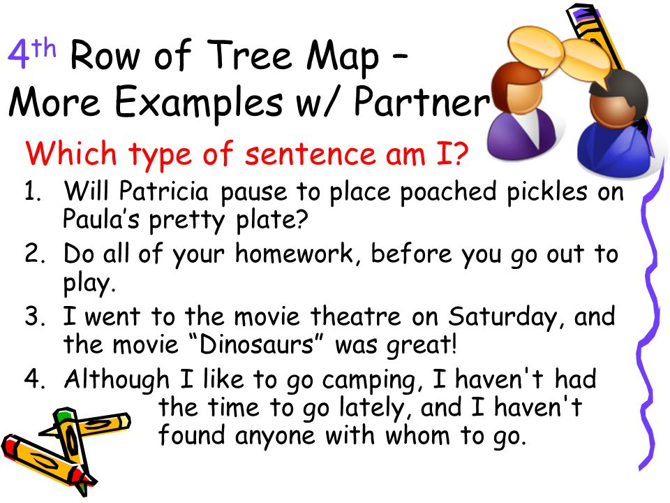 4th Row of Tree Map – More Examples w/ Partner