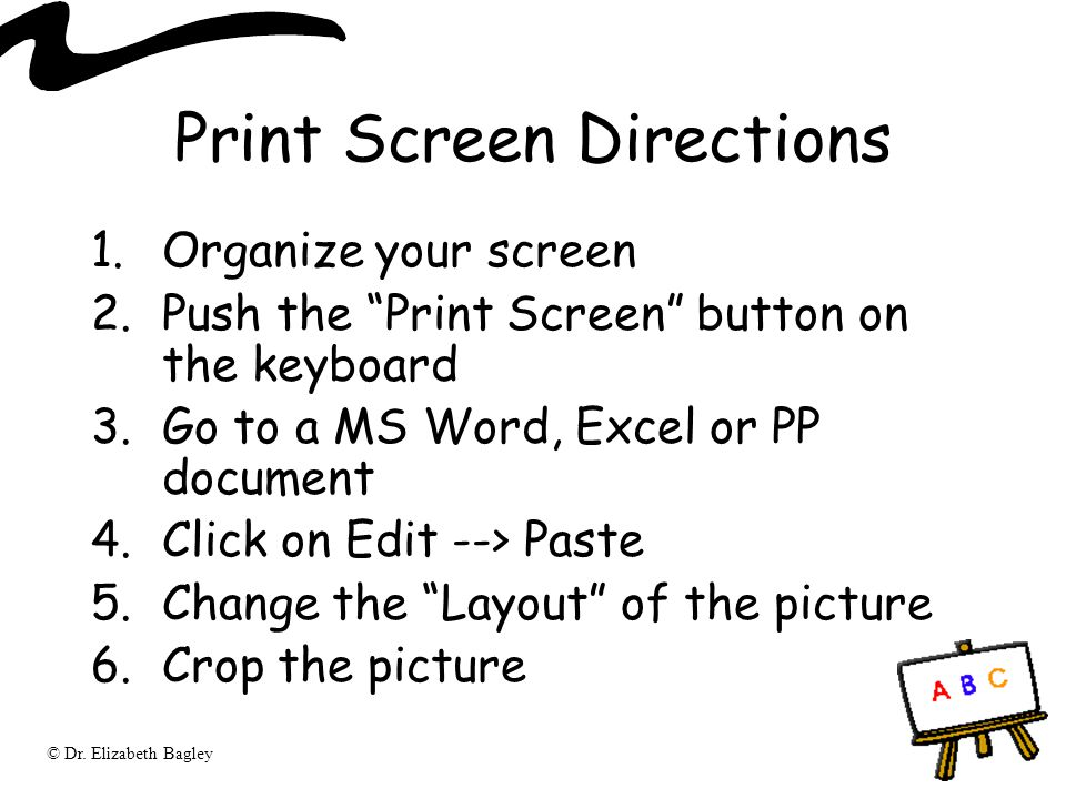 Print Screen Directions