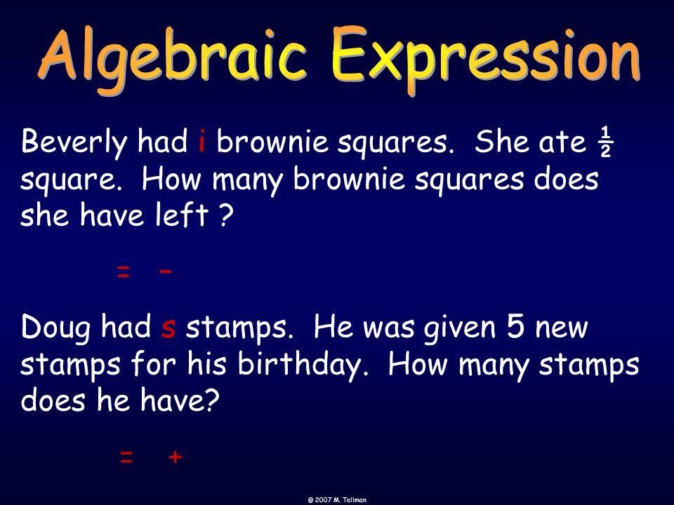 Algebraic Expression B