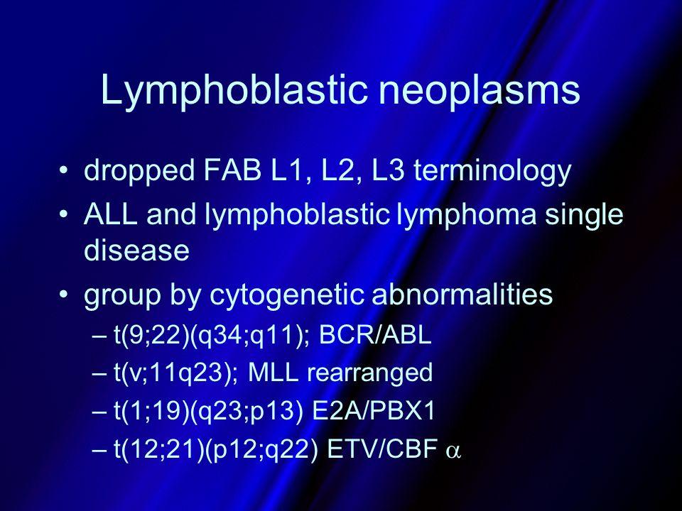 Lymphoblastic neoplasms