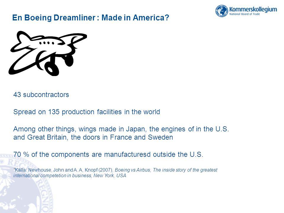 En Boeing Dreamliner : Made in America