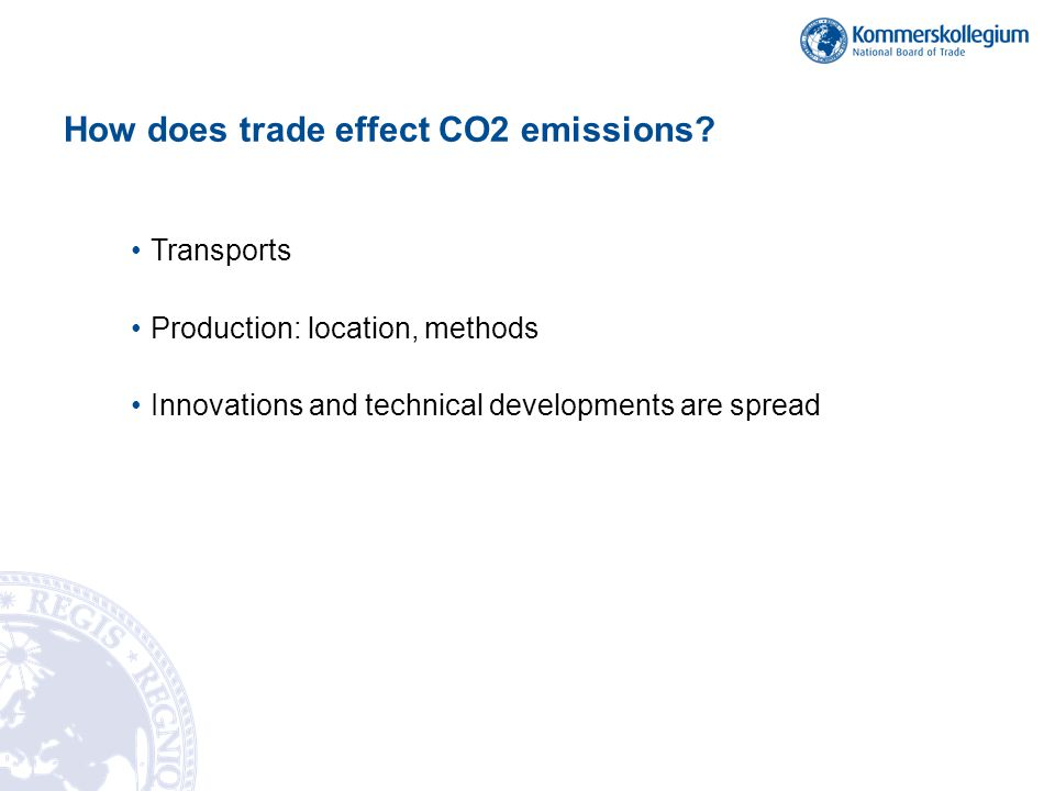 How does trade effect CO2 emissions