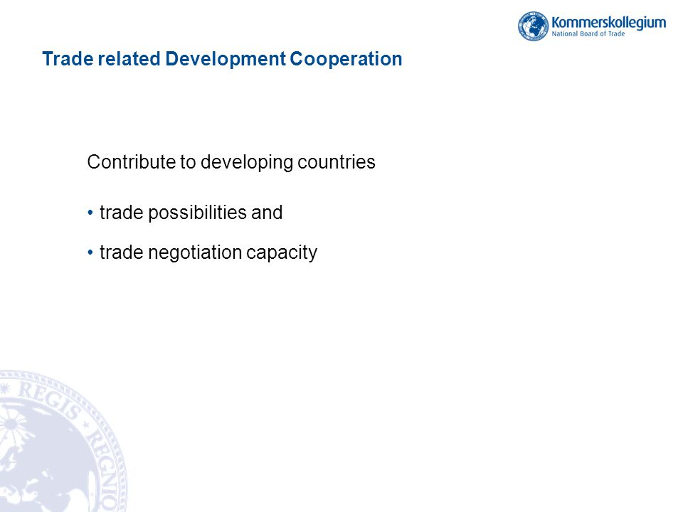 Trade related Development Cooperation