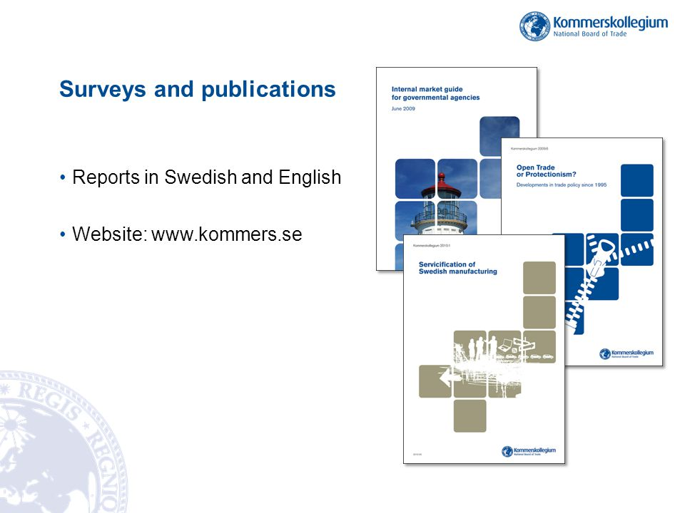 Surveys and publications