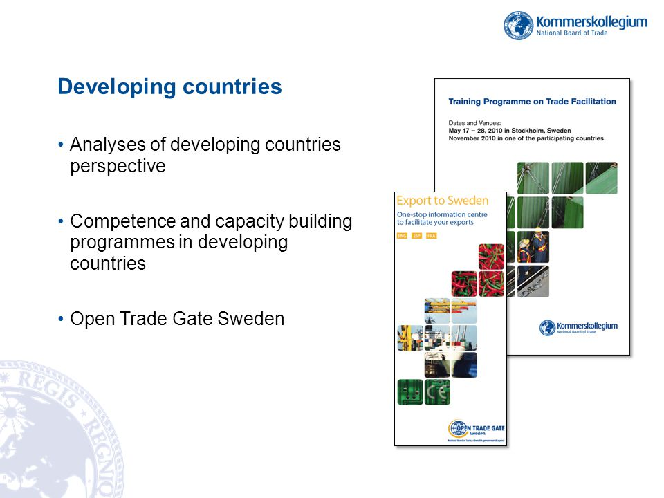 Developing countries Analyses of developing countries perspective