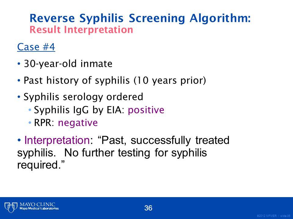Reverse Syphilis Screening Algorithm: Result Interpretation