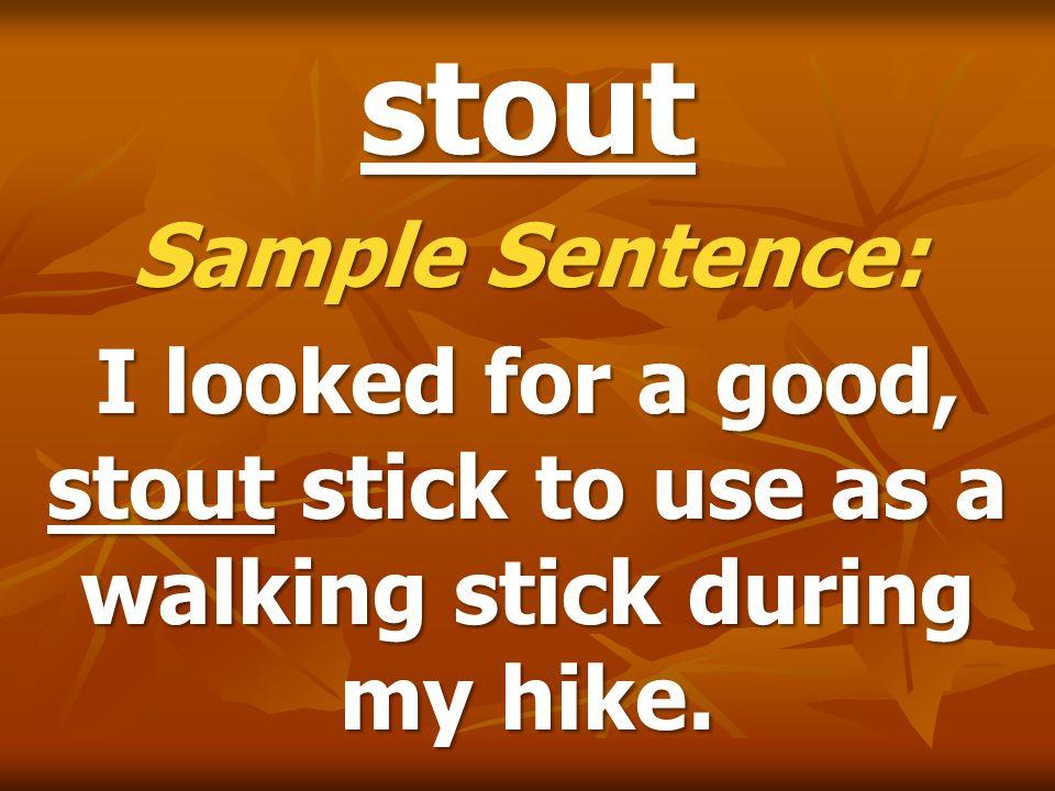 stout Sample Sentence: