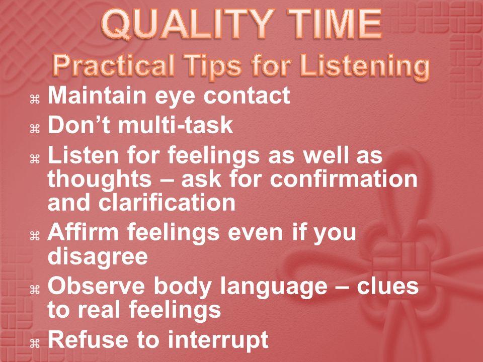 Practical Tips for Listening