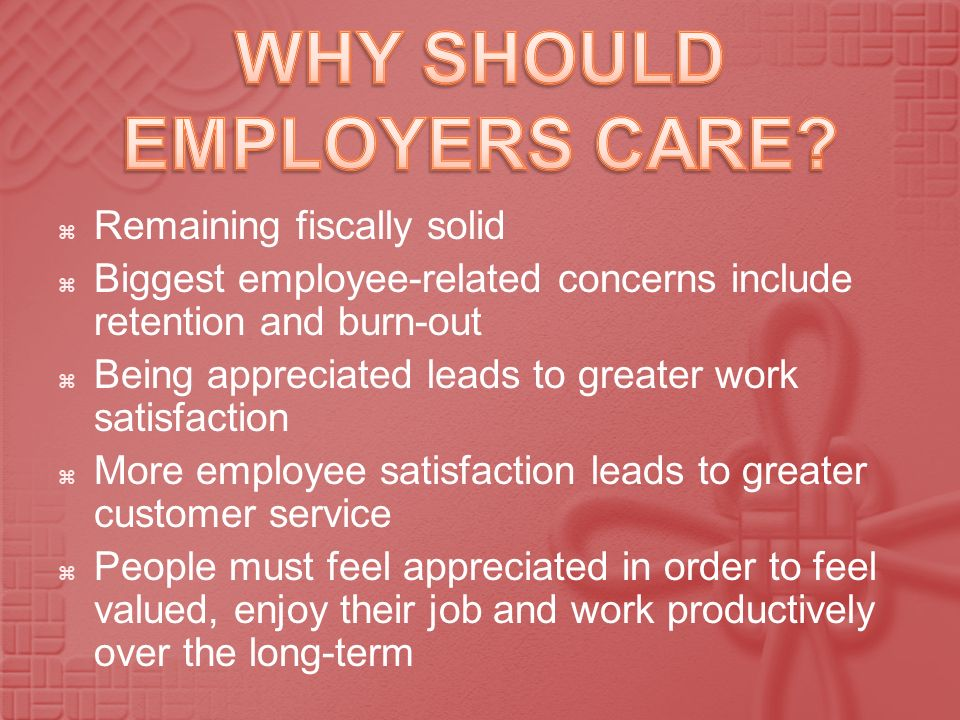WHY SHOULD EMPLOYERS CARE