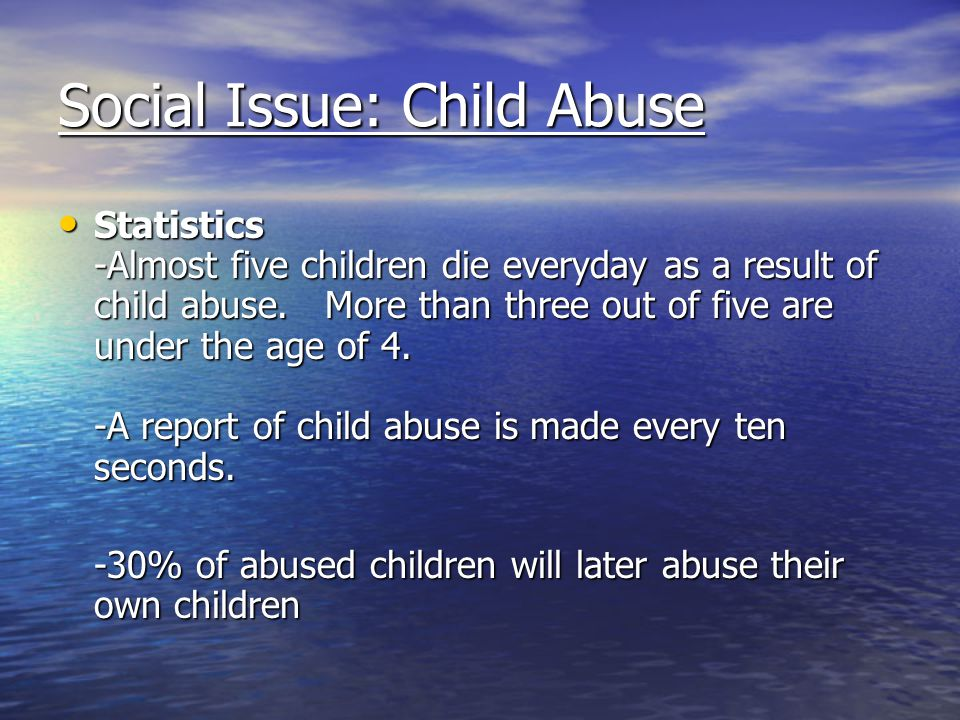 Social Issue: Child Abuse