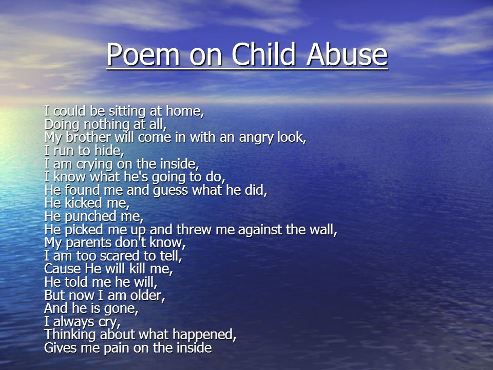 Poem on Child Abuse