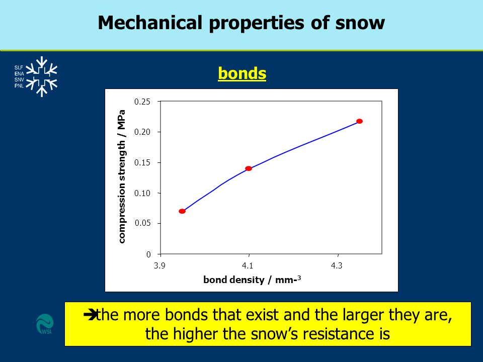 Mechanical properties of snow