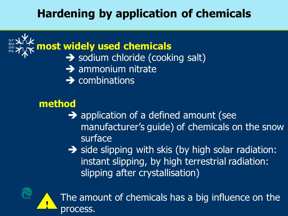 Hardening by application of chemicals