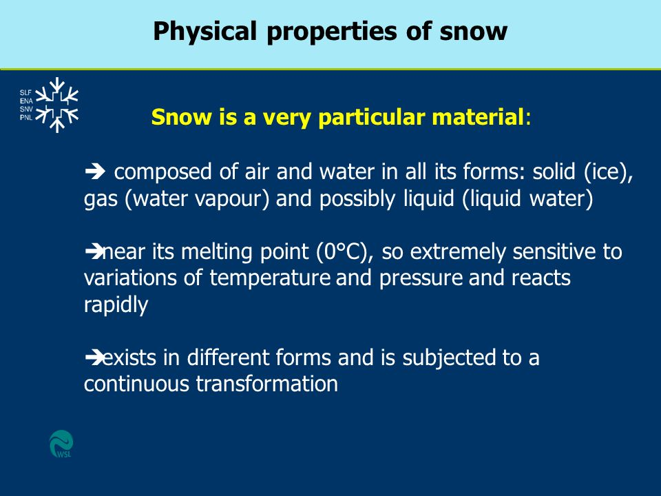 Physical properties of snow