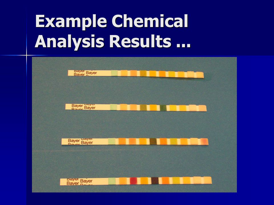 Example Chemical Analysis Results ...