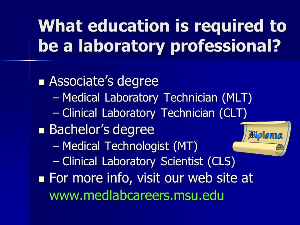 What education is required to be a laboratory professional