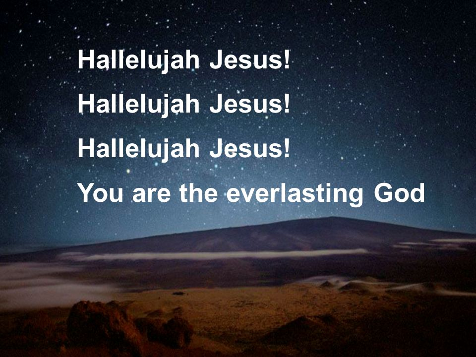 Hallelujah Jesus! You are the everlasting God