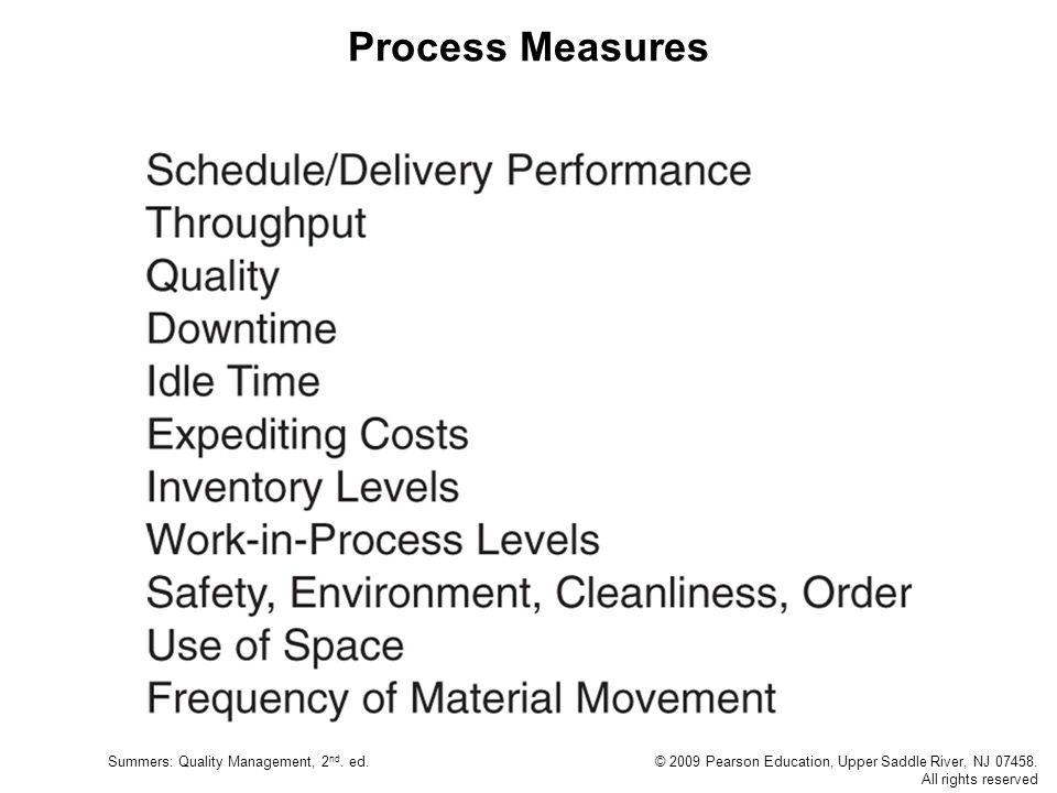 Process Measures