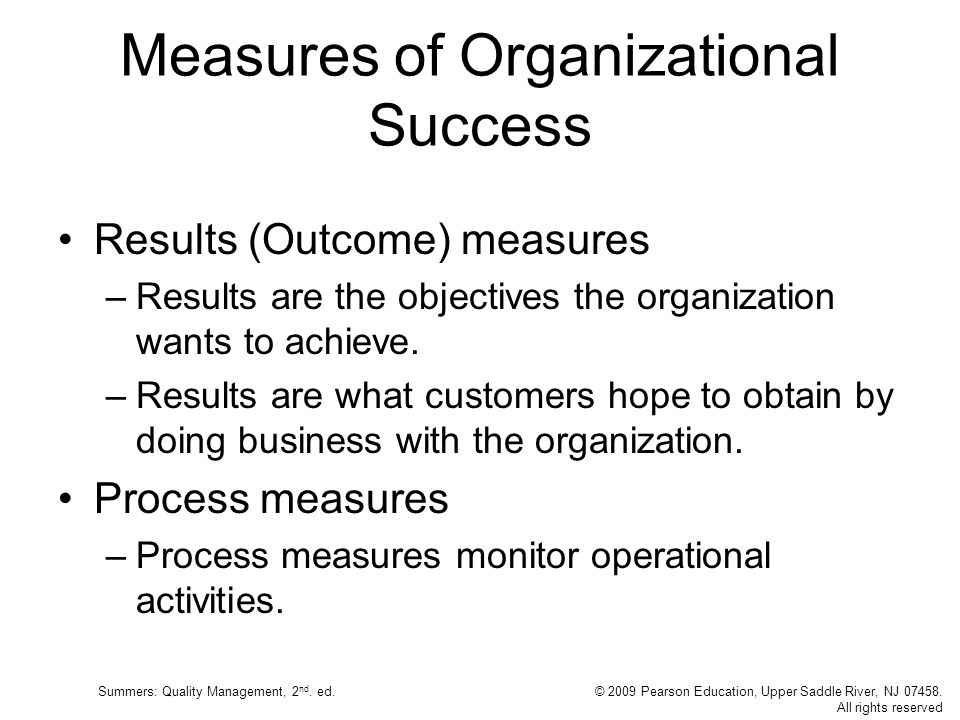 Measures of Organizational Success