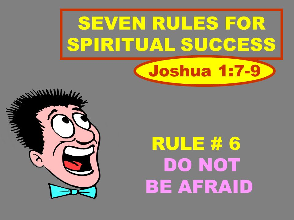 SEVEN RULES FOR SPIRITUAL SUCCESS