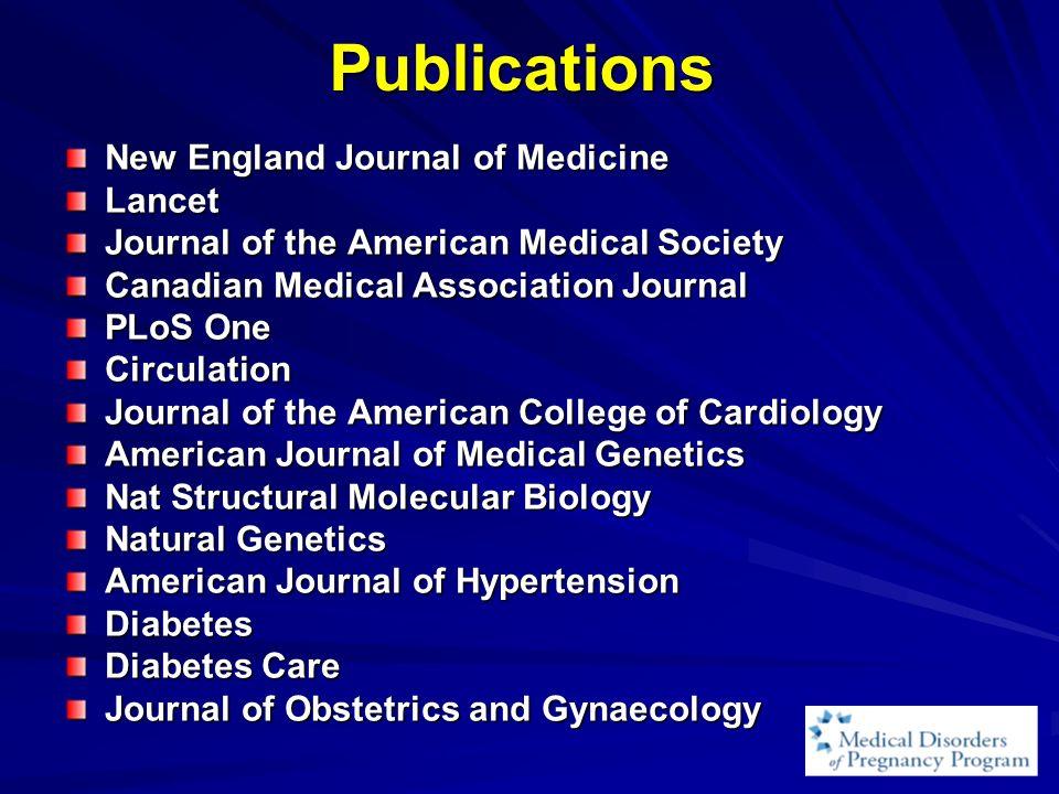 Publications New England Journal of Medicine Lancet