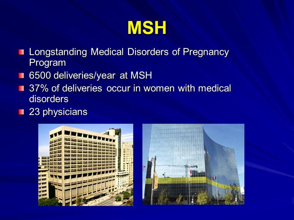 MSH Longstanding Medical Disorders of Pregnancy Program