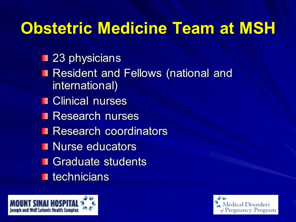 Obstetric Medicine Team at MSH