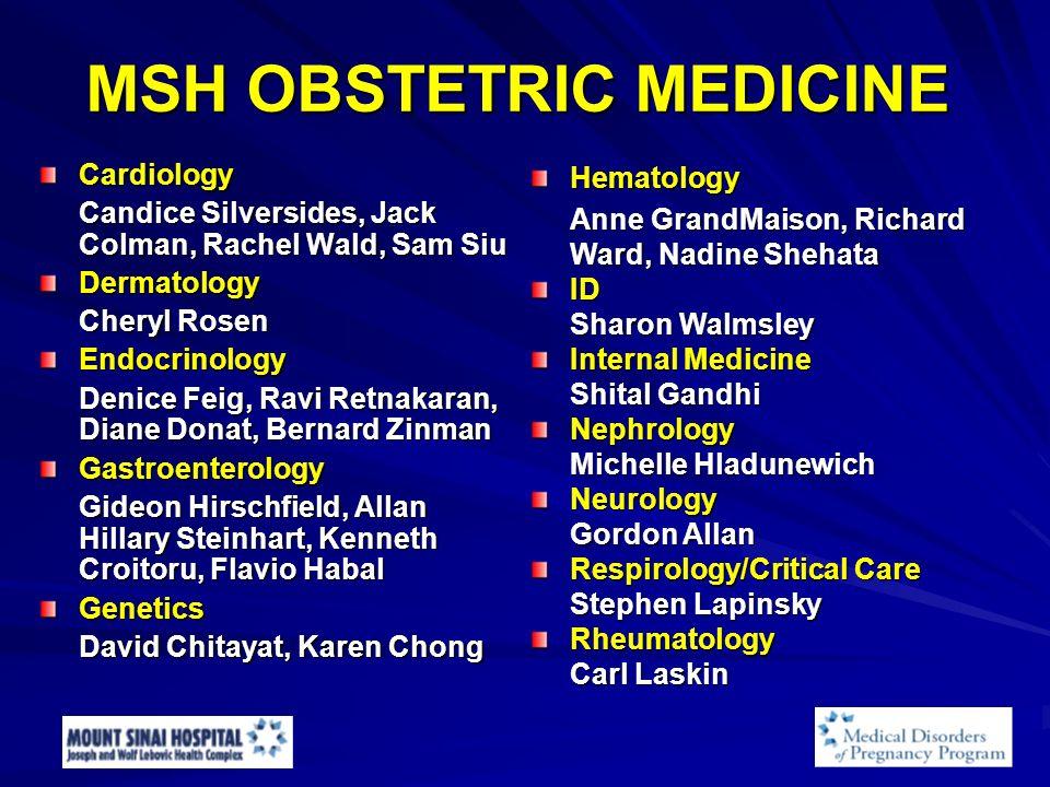 MSH OBSTETRIC MEDICINE