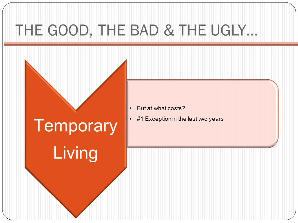 THE GOOD, THE BAD & THE UGLY…