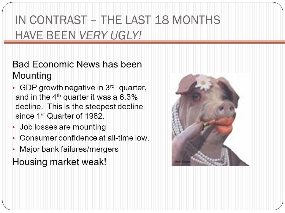 IN CONTRAST – THE LAST 18 MONTHS HAVE BEEN VERY UGLY!