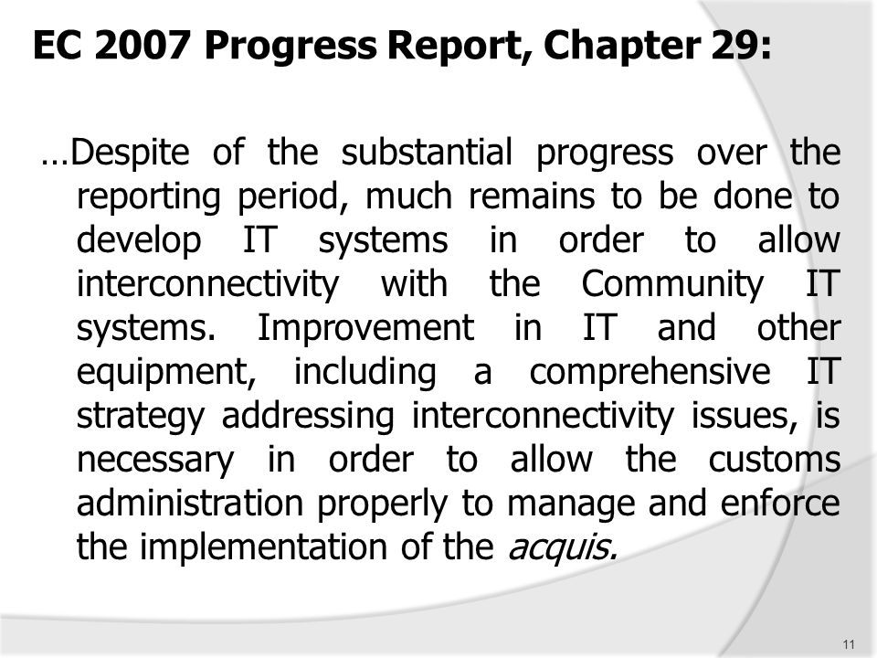 EC 2007 Progress Report, Chapter 29: