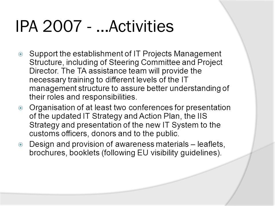 IPA 2007 - …Activities