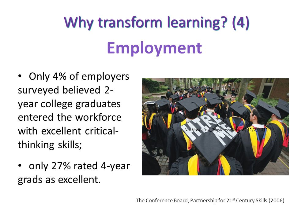Employment Why transform learning (4)