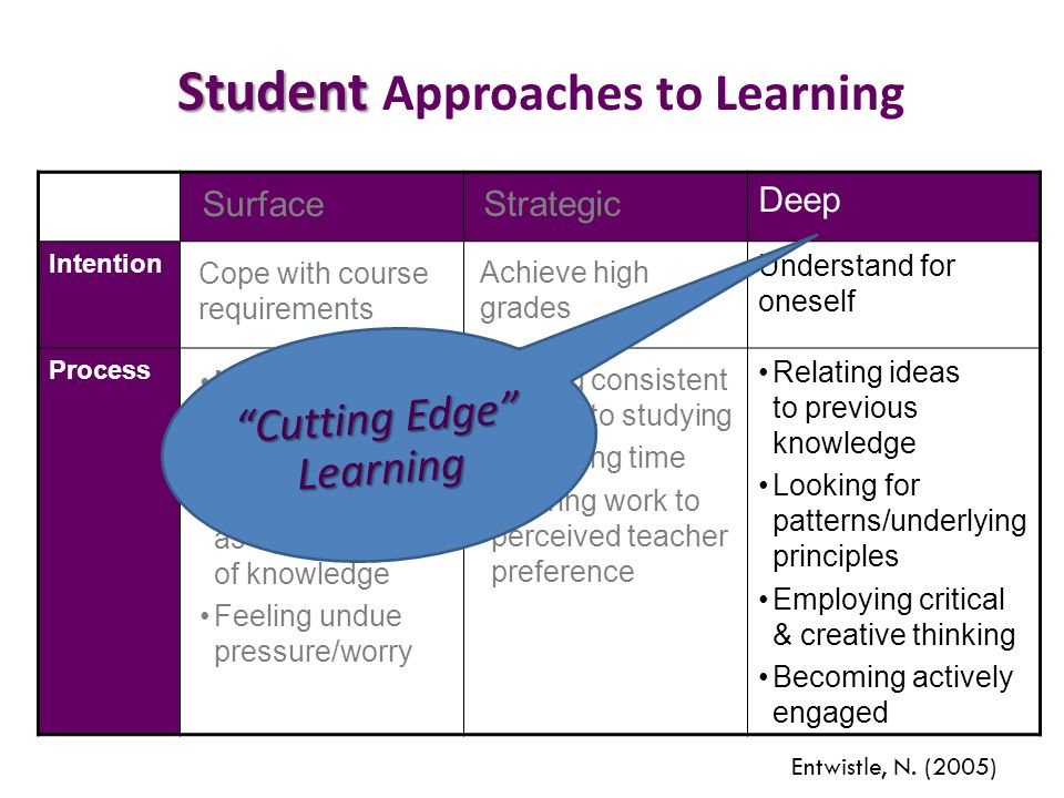 Student Approaches to Learning