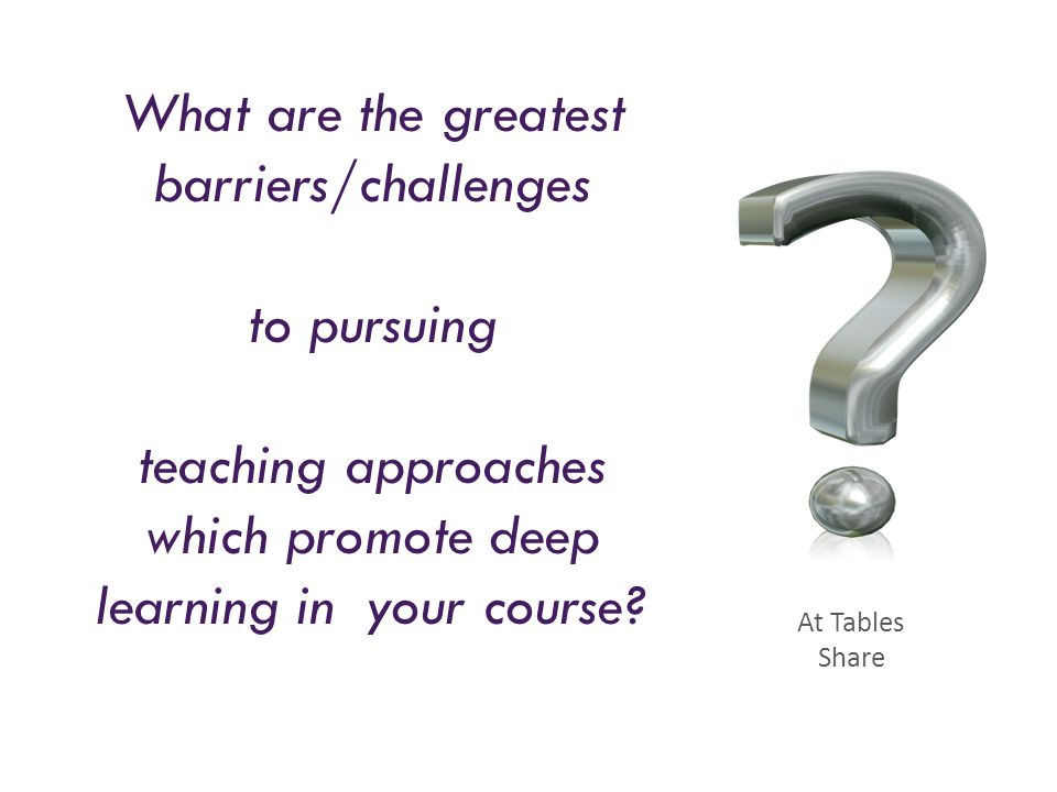 What are the greatest barriers/challenges